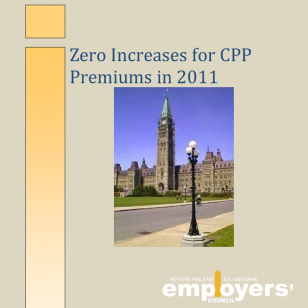 Zero Increases for CPP Premiums in 2011