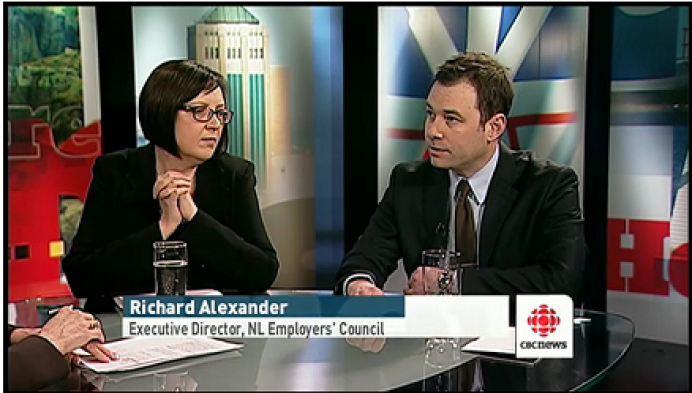 Richard Alexander debates Anti-replacement Worker Legislation on CBC's Radio Noon and Here & Now