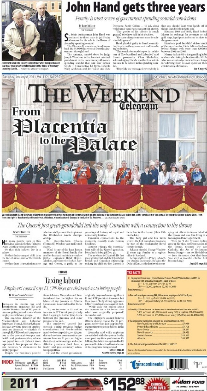 NLEC makes cover of Telegram on Tax on Labour